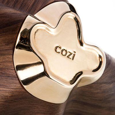 Cozi, Schale, Modell 'Early Bloossom', amerikanische Walnuss mit 24 Karat vergoldetem Messingfuß