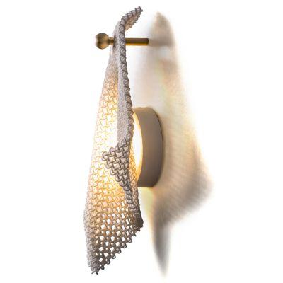 Cozi, Wandlampe, Modell 'Ghost Wall Light', weißes 3D-gedrucktes Nylongewebe
