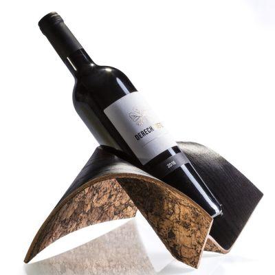 Cozi, Weinflaschenständer, Modell 'Origoni', Esche schwarz mit dunklem Korkboden
