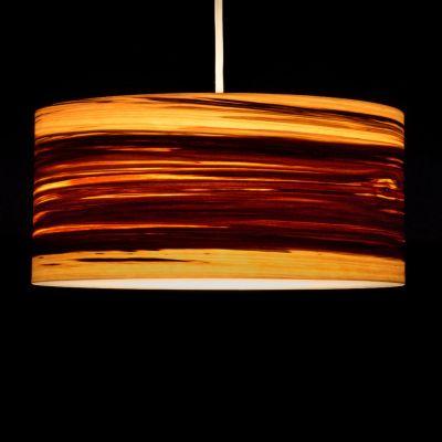 Woodmosphere, Pendelleuchte 'Crown', Satin Nussbaum geflammt, 5 verschiedene Größen
