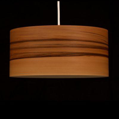 Woodmosphere, Pendelleuchte 'Crown', Satin Nussbaum Kern Splint, 5 verschiedene Größen