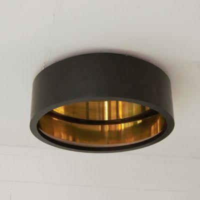 Authentage, Lampenserie 'Eclips', Deckenleuchte 'Plafonnier round', 4 Größen, bronze oder Messing poliert
