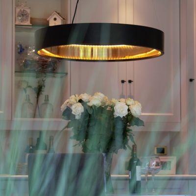 Authentage, Lampenserie 'Eclips', Hängeleuchte 'Suspension large round', 4 Größen, bronze oder Messing poliert