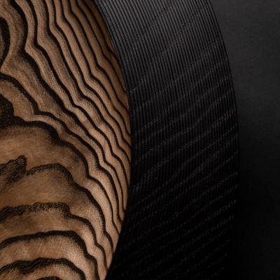 Elke Hirsch Woodenheart, Holzschale 'Unique', Esche massiv, schwarz eingefärbt und gewachst