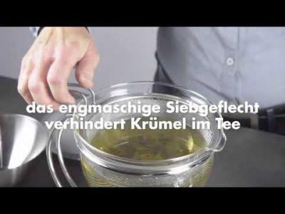 mono filio, Portionsteekanne, 0,6 Liter mit integriertem Stövchen