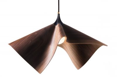 Cozi, Hängelampe, Modell 'Bloom Light Pendant', amerikanisches Walnussfurnier