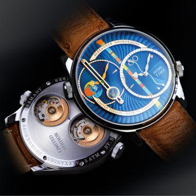 Alexander Shorokhoff, Modell Levels blau, Automatik, limitierte Herren Luxusuhr