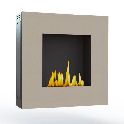 Glamm Fire, Wandkamin Bioethanol, Typ: Lotus der Serie EVO Plus, Front cremefarben lackiert