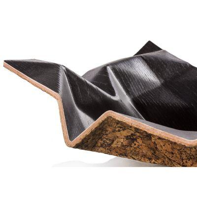 Cozi, Schale klein, Modell 'Origoni', Esche schwarz mit Korkboden