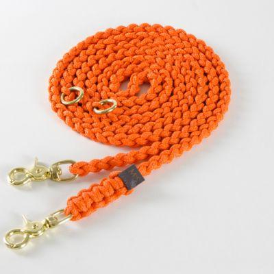 Molly and Stitch, Hundeleine 'Maritim', Farbe orange, 3 Größen