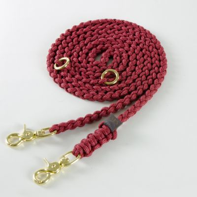 Molly and Stitch, Hundeleine 'Maritim', Farbe Bordeaux rot, 3 Größen