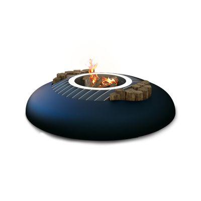 Glamm Fire, Außenfeuerstelle, Typ: Mime, Karbonstahl schwarz lackiert