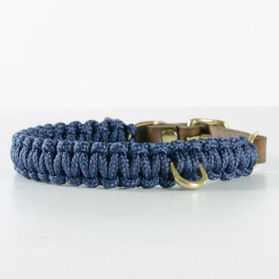 Molly and Stitch, Hundehalsband 'touch of leather', Farbe navy blau, 6 Größen