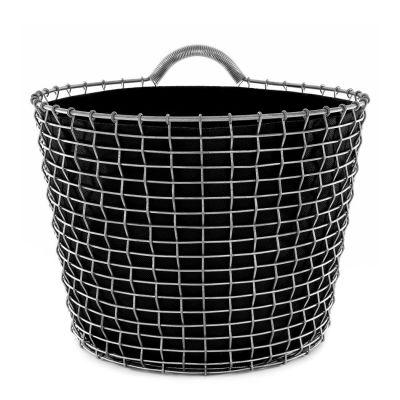 KORBO Planting Bag, Korbeinsatz in schwarz, 3er Set, für 5 verschiedene Korbgrößen