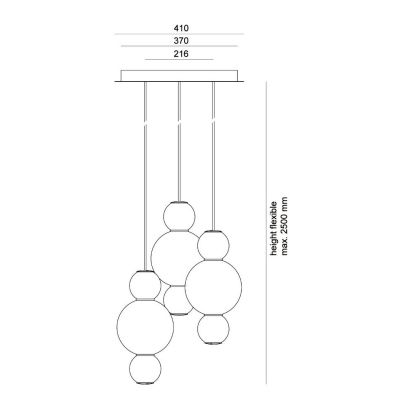 Formagenda, Lüster, Modell Pearls Chandelier 3