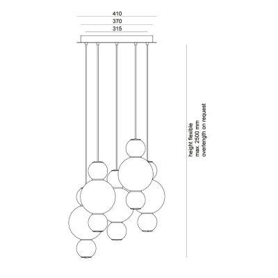 Formagenda, Lüster, Modell Pearls Chandelier 5
