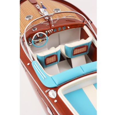 Kiade, Modellboot 'Riva Aquarama', Polsterfarbe blau-weiß, 82 cm / Maßstab 1:10