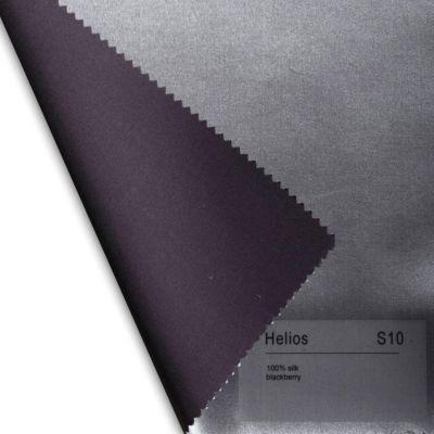 Plauener Seidenweberei, Spannbettlaken aus 100% Seide, Design 'Helios blackberry'