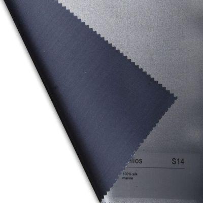 Plauener Seidenweberei, Spannbettlaken aus 100% Seide, Design 'Helios marine'