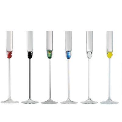 Eisch, Serie Cin Cin, Schnapskelch, 6er Set in Geschenkröhre, verschiedene Farben