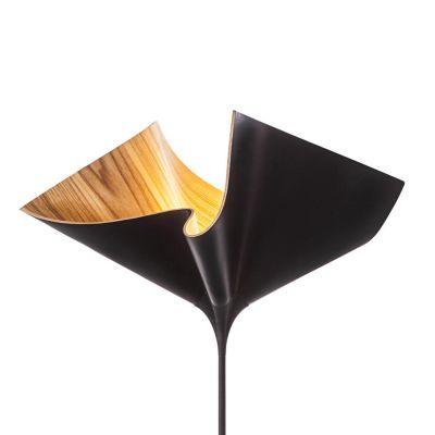 Cozi, Stehlampe klein, Modell 'Bloom Up Light', Eschefurnier, schwarz