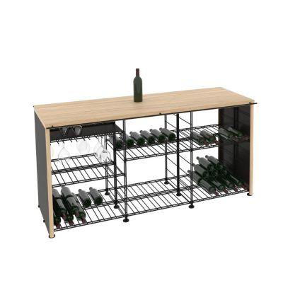 L'Atelier du Vin, hochwertiger Weintisch und Bar in 3 Breiten und 2 verschiedenen Arbeitsplatten