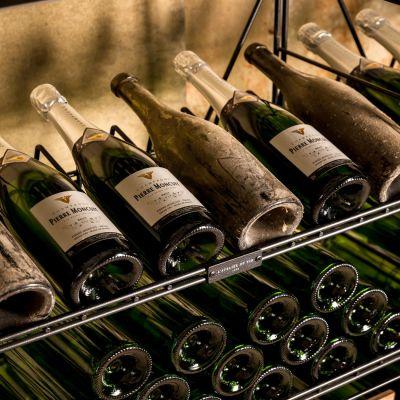 L'Atelier du Vin, hochwertiges Weinregalsystem, Rahmen Metall oder Holz/Metall in 3 Höhen