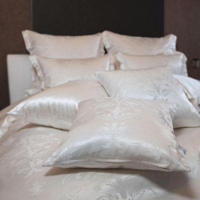 Plauener Seidenweberei, Bettwäsche aus 100% Seide, Design 'Siena nature'