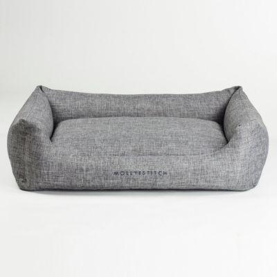 Molly and Stitch, Hundebett 'Soft Rock', Farbe grau, 2 Größen