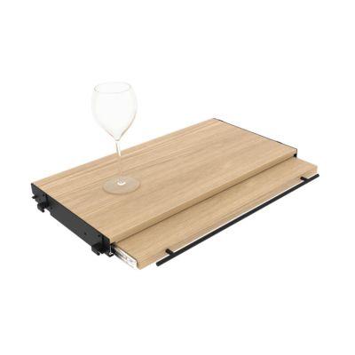 L'Atelier du Vin, Tablettauszug für Regalsystem, Vollauszug, 60 cm Breite, Eiche furniert