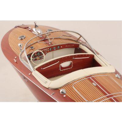 Kiade, Modellboot 'Riva Super Tritone Ivory', Polsterung Elfenbein, 82 cm, Maßstab: 1:10