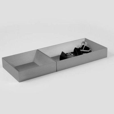 VAU, Modell '12 Organiser', 2 Ablageboxen, silber matt