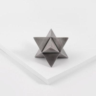 VAU, 'Merkaba' Briefbeschwerer, Silber matt