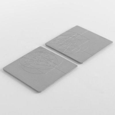 VAU, Modell 'PHI Coaster', Untersetzer, 2er Set, massives Messing, Oberfläche Silberoptik