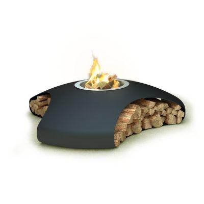 Glamm Fire, Außenfeuerstelle, Typ: Vaudeville, Karbonstahl schwarz lackiert