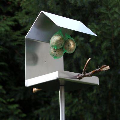 Opossum Design, Vogelfutterhaus VH 99, Edelstahl gebürstet