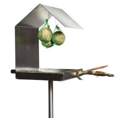 Opossum Design, Vogelfutterhaus VH 2, Aluminium weiß