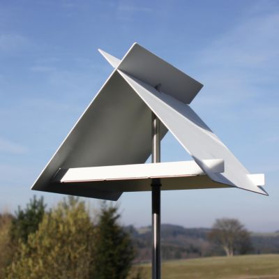 Opossum Design, Vogelfutterhaus VH 3, Aluminium weiß