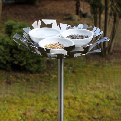 Opossum Design, Vogeltränke VT-2 mit Porzellanschalen, 2 Modelle